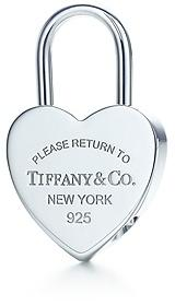 Return to TiffanyTM Heart lock key ring