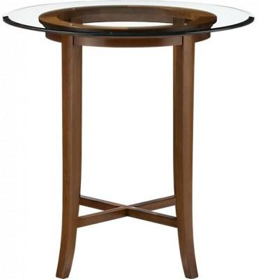 Halo Cognac 42 High Dining Table With 42 Glass Top Trendylog