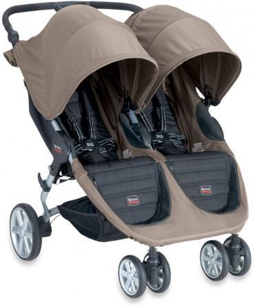 britax b agile double stroller in sandstone trendylog. Black Bedroom Furniture Sets. Home Design Ideas