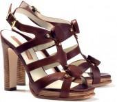 RUPERT SANDERSON Gilded platform sandal