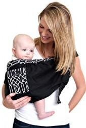 Dr. Sears Adjustable Sling by Balboa Baby® - Black & White