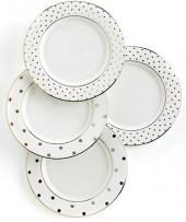 "kate spade new york ""Larabee Road"" Polka Dot Tidbit Plates, Set Of 4"