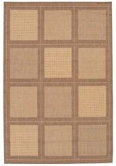 "Couristan Area Rug, Recife Indoor/Outdoor Summit/Natural-Cocoa 1043/3000 5'3"" x 7'6"""
