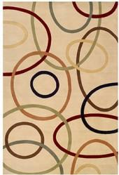 Momeni Area Rug, Elements EL-09 Ivory 3' x 5'