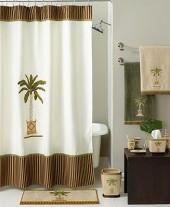 Avanti Bath Accessories, Banana Palm Shower Curtain