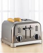 Cuisinart CPT-180BCH Toaster, 4-Slice Black Chrome
