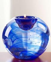 "Kosta Boda ""Blue Moon"" Votive, 4"""