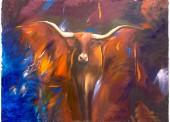 Abstract Steer Canvas Artwork