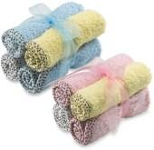 Washcloth with Swirl Print Binding by Frenchie Mini Couture (Set of 4)