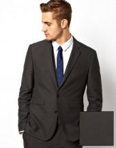ASOS Slim Fit Suit Jacket in Charcoal