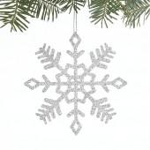 Sparkly Glitter Small Snowflake Ornament
