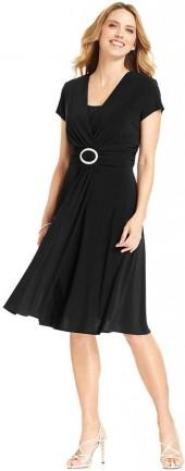 R&M Richards Cap-Sleeve Embellished Dress