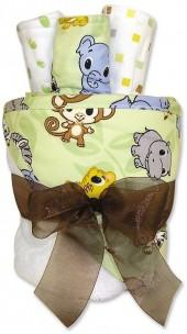 Trend lab ® chibi zoo animals towel & washcloth gift cake set