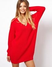 ASOS Deep V Sweater Dress