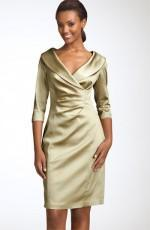 Kay Unger Stretch Satin Sheath Dress
