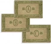 "Leafy Vine Green 38"" x 60"" Monogrammed Doormat"