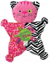 "Kids preferred label loveys ""little diva"" kitty comfort cuddly toy"