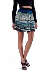 TORN BY RONNY KOBO Anabella Skirt Green
