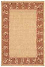 "Couristan Area Rug, Recife Indoor/Outdoor 1177/1112 Tropics Natural-Terra-cotta 7' 6"" x 10' 9"""