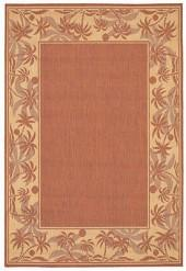 "Couristan Area Rug, Recife Indoor/Outdoor 1222/1122 Island Retreat Terra-Cotta-Natural 5' 9"" x 9' 2"""