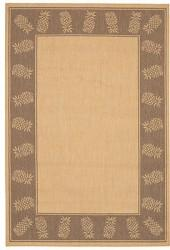 "Couristan Area Rug, Recife Indoor/Outdoor 1177/3000 Tropics Natural-Cocoa 7' 6"" Square"