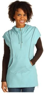 Joan Vass - Zip Front Hoodie (Country Blue) - Apparel