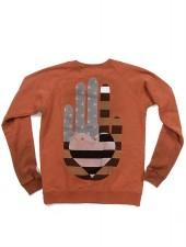 FREECITY Friend Helping Hand Raglan Pullover Sweatshirt