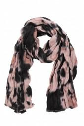 Maison Scotch Boiled Wool Scarf Rose