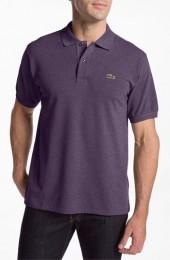 Lacoste Classic Fit Heathered Piqué Polo
