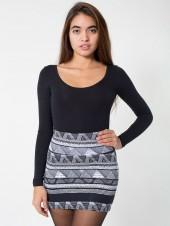 Afrika Print Cotton Spandex Jersey Mini Skirt