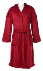Peacock Alley Serenity Hooded Robe, Red, Small