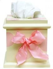 Pink Polka Dot Tissue Box