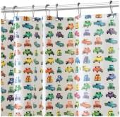 InterDesign Trucks Shower Curtain