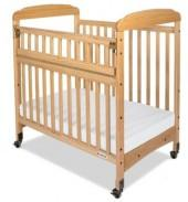 Foundations Serenity Safereach Fixed Side Mirror End Compact Crib