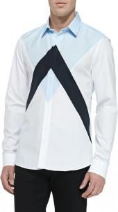 Kenzo Twin Peaks Colorblock Shirt, White