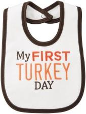 Carter's Thanksgiving Bib - Ivory-OSZ