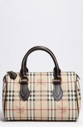 Burberry 'Haymarket Check' Satchel, Medium