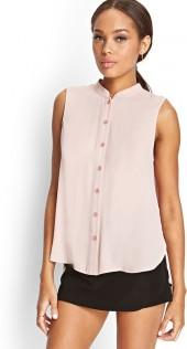 FOREVER 21 Sleeveless Chiffon Shirt