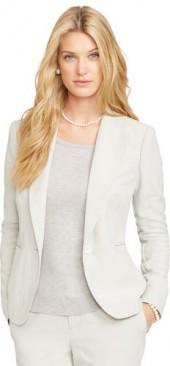 Ralph Lauren Poplin Single-Button Blazer