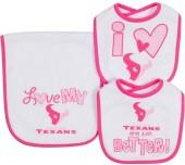 Houston Texans 3-Piece Bib & Burb Cloth Set
