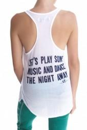 291 Let's Play Some Music and Dance the Night Away Tank White