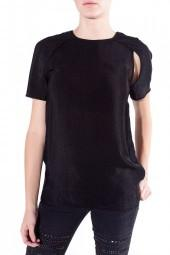 ALEXANDER WANG Open Raglan Sleeve Tee Black