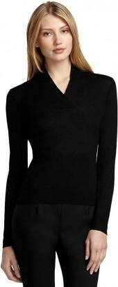 Silk and Cashmere Shawl Collar Sweater