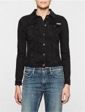 Calvin Klein Womens Online Exclusive Faded Denim Jacket