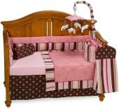 Bananafish® Raspberry Truffle 4-Piece Crib Bedding Set and Accessories