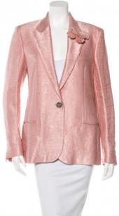 Lanvin 2015 Satin Embellished Blazer