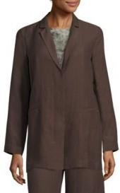 Eileen Fisher Drapey Notch Collar Long Jacket