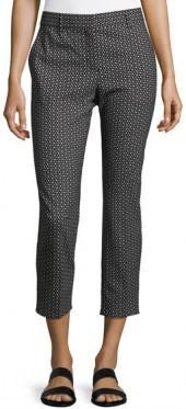 Theory Trecca Tile Geo Pants, Navy/Ivory