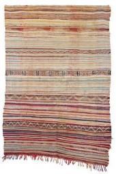 "Moroccan Kilim Boucherouite, 4'11"" x 7'3"" feet"