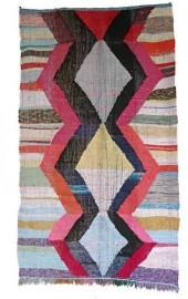 "Moroccan Kilim Boucherouite, 4'11"" x 8'9"" feet"